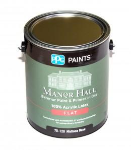 100% Акриловая фасадная краска PPG Manor Hall, для оттенков средней яркости PPG