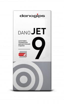 Шпатлёвка сухая полимерная выравнивающая Danogips DANO JET 9, 20 кг Danogips