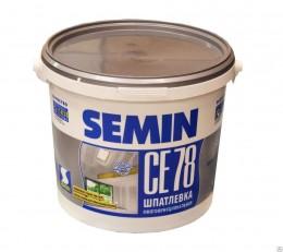 Шпатлёвка для заделки стыков ГКЛ Semin CE 78 GREY (серая крышка), 8 кг