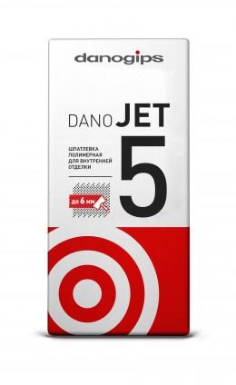 Шпатлёвка сухая полимерная выравнивающая Danogips DANO JET 5, 25 кг Danogips