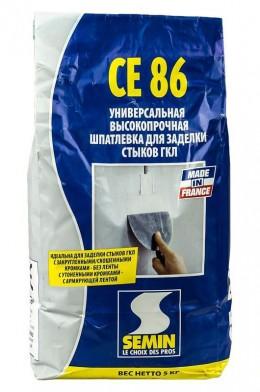CE 86 шпатлевка  для заделки стыков ГКЛ Semin