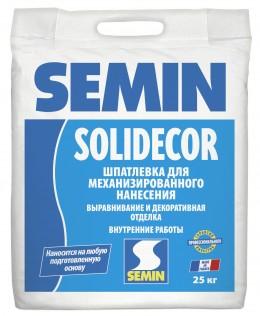 Декоративная шпатлёвка для машинного нанесения Semin SOLIDECOR, 25 кг Semin