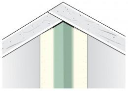 Уголок Sheetrock для внутренних углов, металлизированный на бум. основе