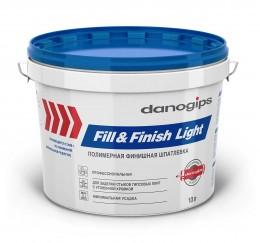 Шпатлёвка готовая финишная Danogips Fill & Finish Light, 12,3 кг Danogips
