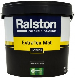 Ralston Extra Tex MatW 10л, белая, стойкая к мытью и царапинам Ralston