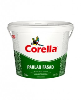 Краска Corella Parlaq Fasad, экстраглянцевая фасадная Corella