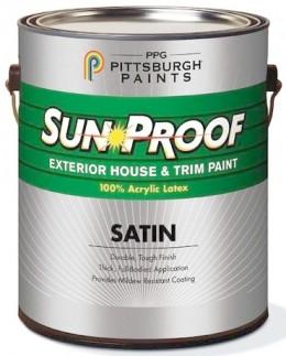 Фасадная краска PPG Sun-Proof®,100% акриловая полуматовая PPG