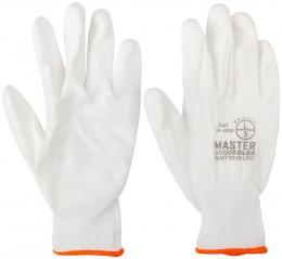 Перчатки защитные Master Color, полиэфирные белые Master Color