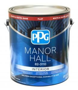 Матовая интерьерная краска PPG Manor Hall, для пастельных оттенков, 100% акрил-латекс