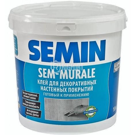 SEM-MURALE готовый клей для декоративных покрытий, тканей, текстиля Semin