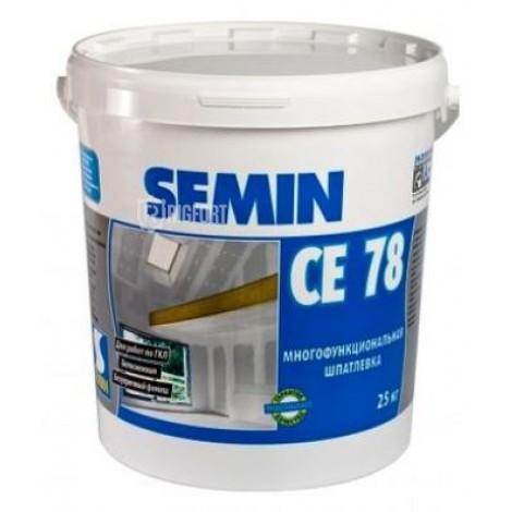 Шпатлёвка Semin CE 78 Super finish 25 кг (белая крышка), финишная по ГКЛ Semin